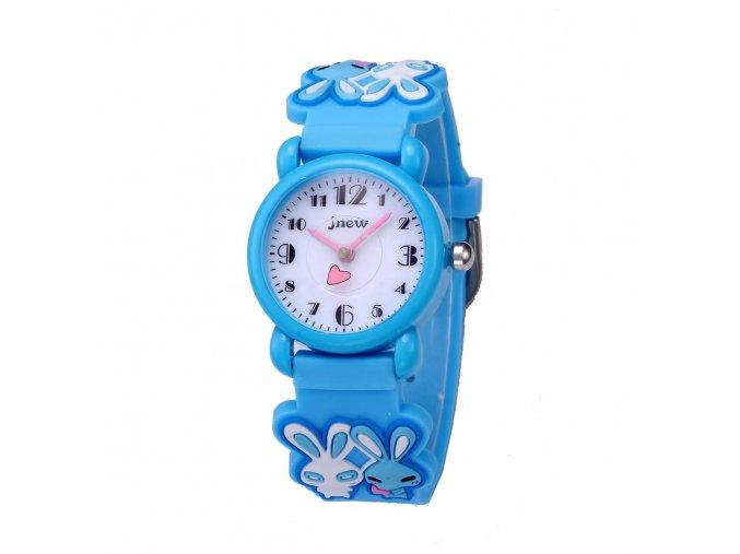 detske hodinky jnew s 3d reminkem barevne zajicek 86149 3 modre 3