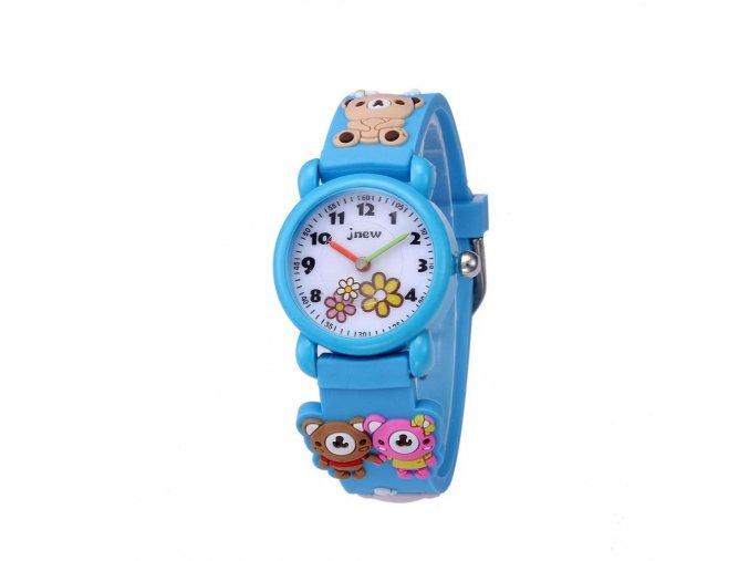 detske hodinky jnew s 3d reminkem barevne modre 86177 2 medvidci
