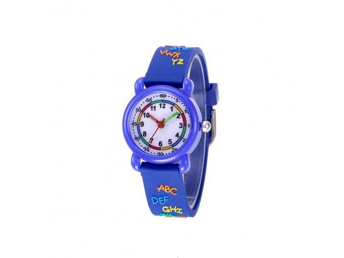 detske hodinky jnew s 3d reminkem barevne modry text
