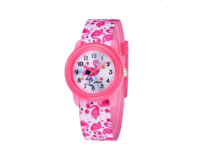detske hodinky jnew s 3d reminkem barevne plamenaci 86321