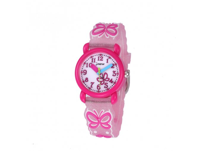 detske hodinky pro divky slecny holky s motylkem motyl ruzove86228 (1)