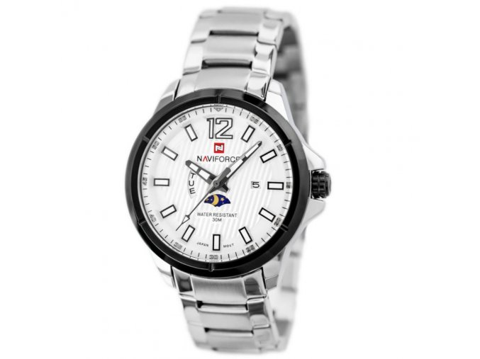 panske hodinky s dualnim casemNAVIFORCE ORLANDO silver hlavni nove