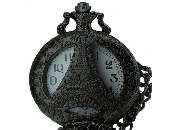 kapesni hodinky na retizku do kapsy eifelova vez