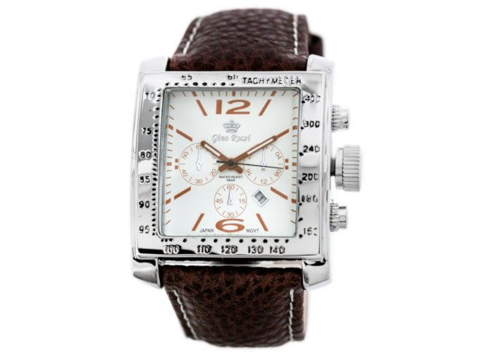panske hodinky gino 6386 zq005c white