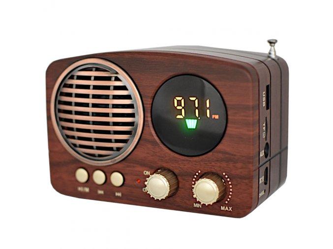 fm radio s bluetooth na sd kartu usb v retro stylu