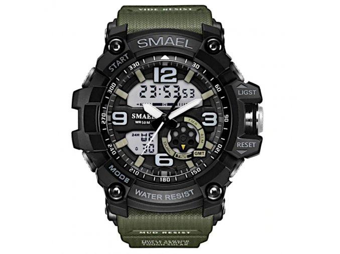 digitalni hodinky s dualnim casem smael 1350 khaki