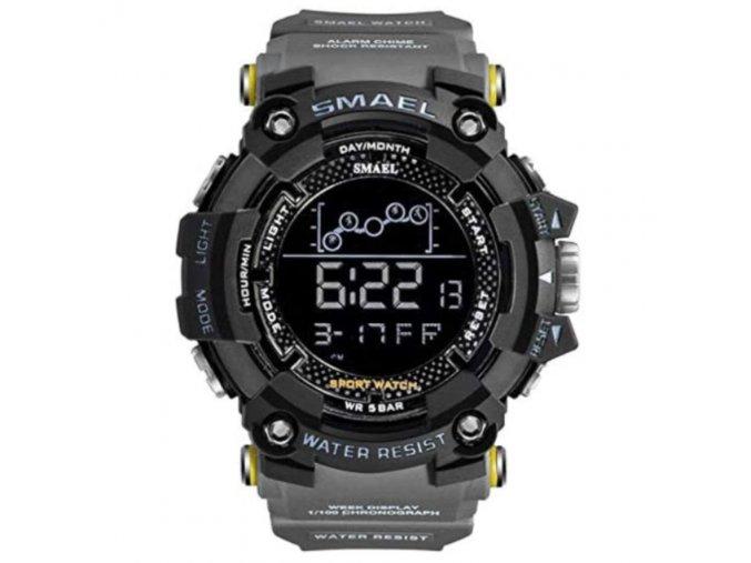 panske digitalni hodinky smael 1802 cerno sede