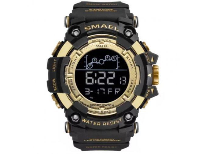 panske digitalni hodinky smael 1802 cerno zlate