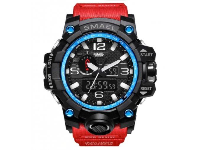 digitalni hodinky s dualnim casem smael 1545 cerveno modre