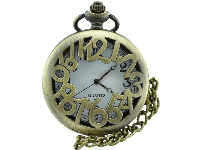kapesni hodinky na retizku numeral
