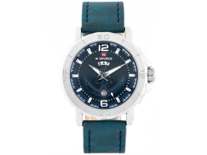 panske rucickove hodinky s skozenym reminkem NAVIFORCE NF9122 zn056b blue 8960 1