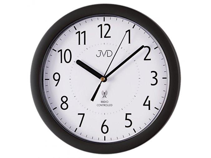 nastenne hodiny rizene radiovym signalem jvd 14 cerne