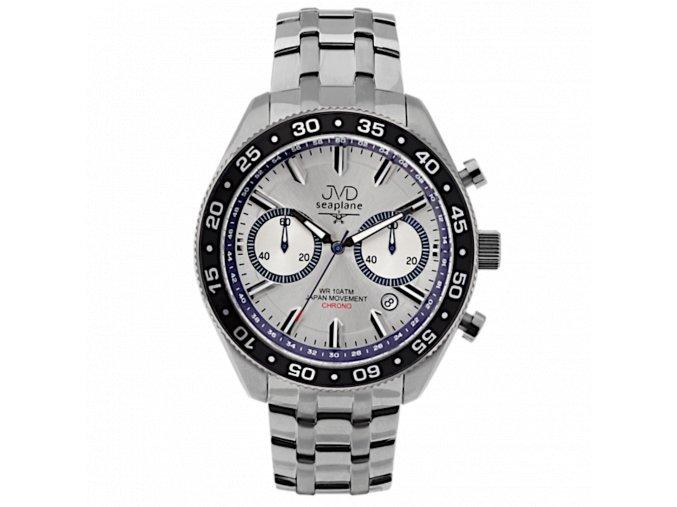panske hodinky rucickove s kovovym reminkem jvd seaplane j1117 1