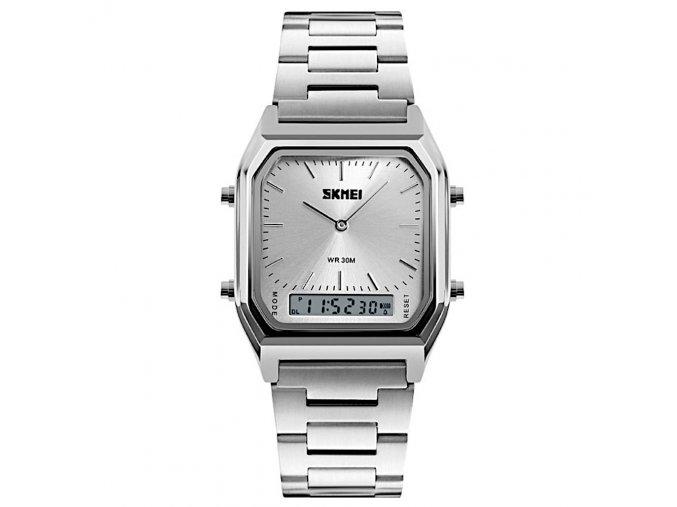 panske retro kovove hodinky digitalni skmei 1220