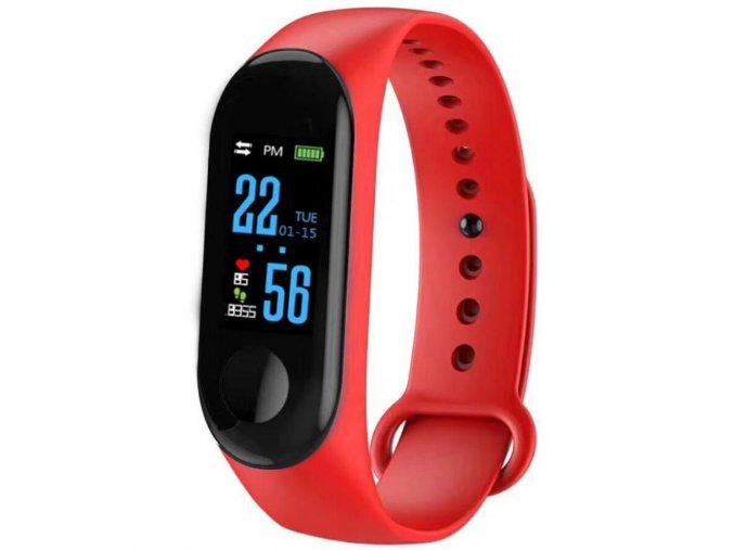 chytry smart fitness naramek m 3 yoho cerveny hl