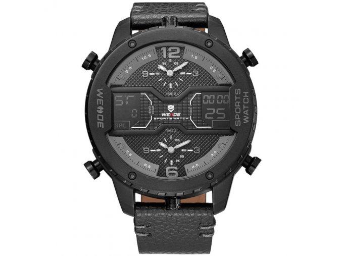 panske hodinky s velkym cifernikem wh6401 cerne hlavni