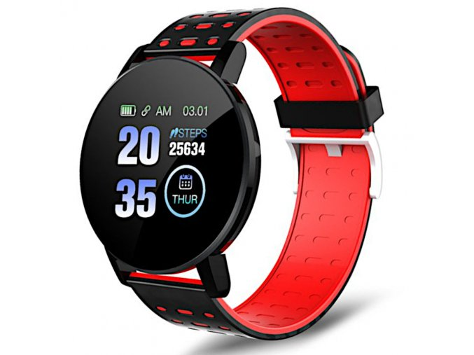 chytre smart hodinky 119plus cervene