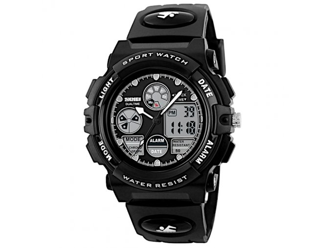 sportovni hodinky s dualnim casem skmei 1163 cerne