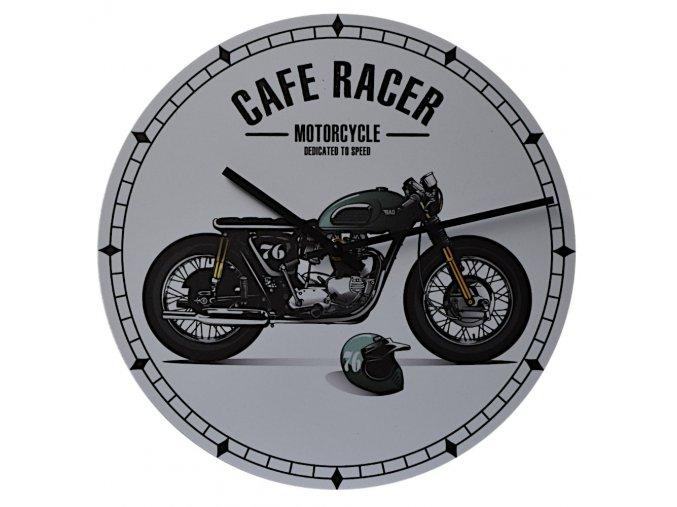 motorkarske nastenne hodiny cafe racer 300 mm