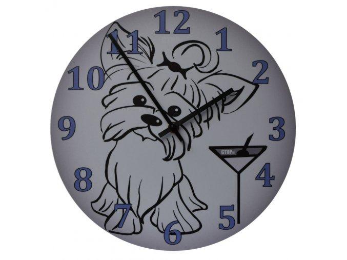 motorkarske nastenne hodiny pejsek pes yorshire 300 mm