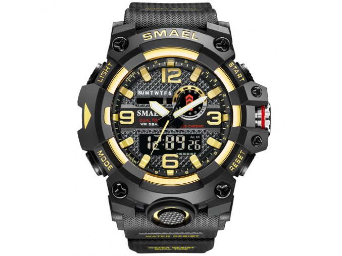 digitalni hodinky smael 8035 zlate