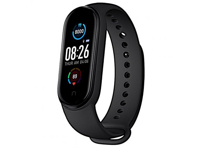 fitness naramek m5 cerny chytre hodinky hlavni