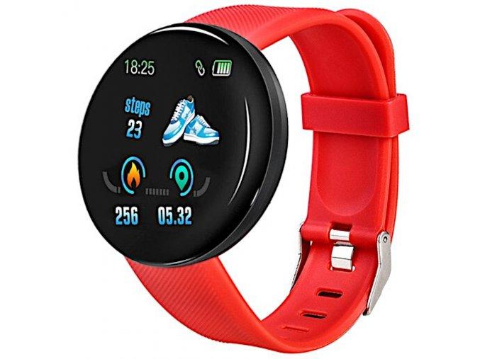 chytry fitness naramek smart hodinky d 18 cerveny