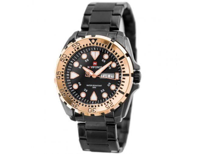 panske rucickove analogove hodinky NAVIFORCE NF9105 zn058c black rosegold 8968 1 (3)