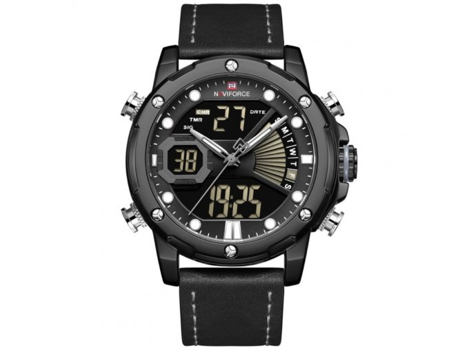 panske hodinky NAVIFORCE NF9172L zn111a cerne bily sev hlavni