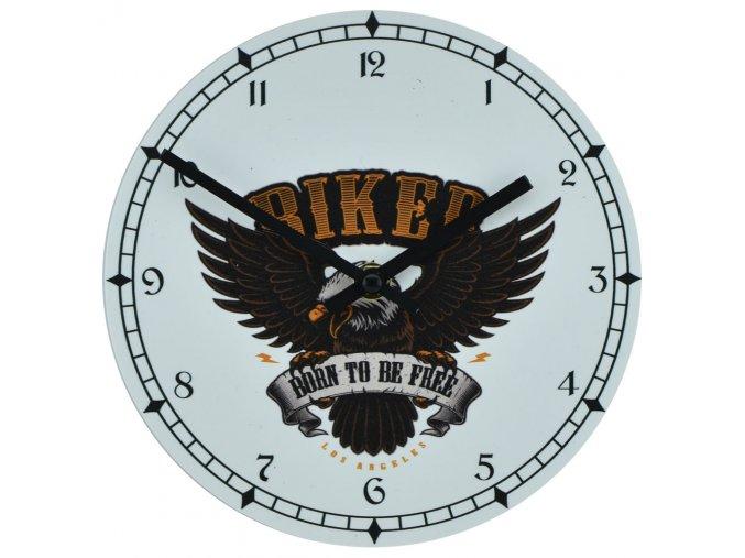 nastenne motorkarske hodiny pro motorkare s tichym strojkem biker