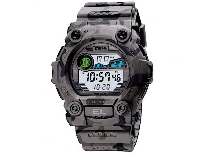 sportovni digitalni vojenske army hodinky vodotesne outdoorove gtup 1240 maskovane khaki