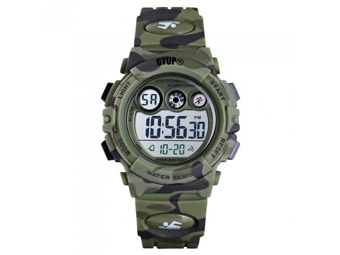 detske digitalni sportovni hodinky gtup 1110 vojenske army maskovane