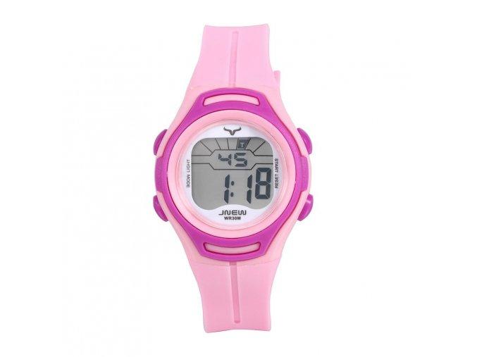 detske digitalni barevne hodinky jnew 9690 3 fialovo ruzove