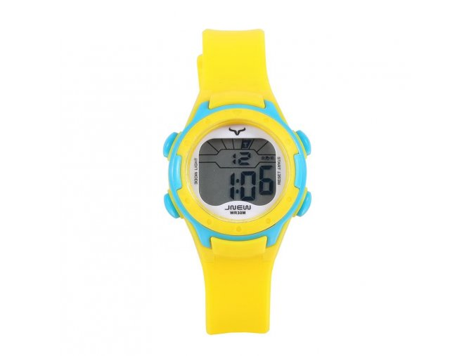 detske digitalni barevne hodinky jnew 9688 3 žluto modré