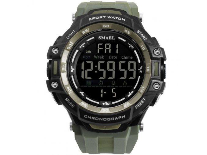 panske digitalni hodinky smael 1350 zelene cerne hlavni