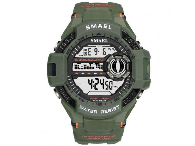panske digitalni hodinky smael 1516 army green