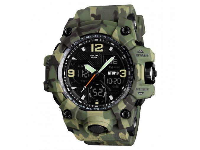 panske sportovni vojenske vodotesne digitalni hodinky gtup 1050 maskovane army