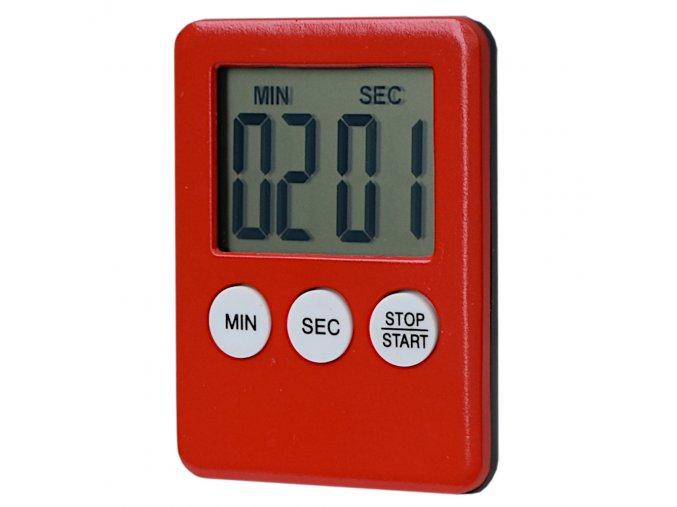 digitalni minutka s magnetem cervena eshophodinek