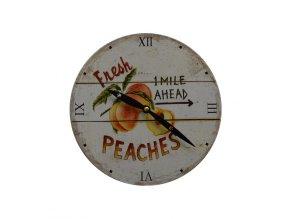 Hodiny nástěnné RETRO peaches  + 100% skladem