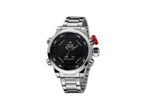 Pánské hodinky WEIDE 2309 stříbrné hodinky  + doprava zdarma po ČR + náramek zdarma