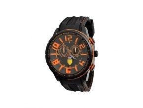 Pánské hodinky 3D oranžové  + 100% skladem + doprava zdarma