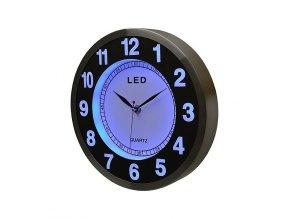 LED nástěnné hodiny modré