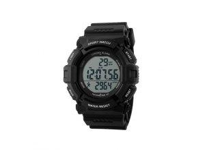 Sportovní hodinky GTUP® 1001 černé s krokoměrem