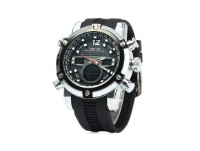Pánské hodinky WEIDE 5205-7C černé  + doprava zdarma po ČR + náramek zdarma