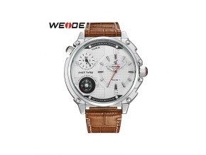 Pánské hodinky WEIDE 1507 stříbrné hodinky - bílé  + doprava zdarma po ČR + náramek zdarma