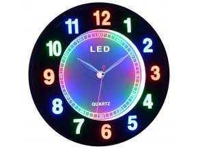 Led hodiny barevné micro