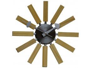 nástěnné hodiny dřevěné JVD