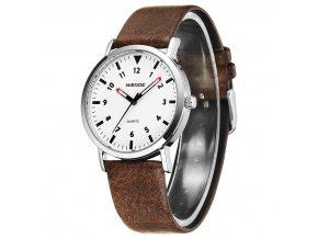 WEIDE WD003 pénské elegantní luxusní hodinky s koženým řemínkem (5)