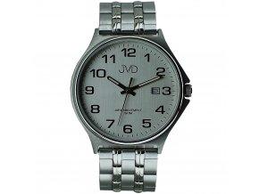 panske damske hodinky s bilym cifernikem a kovovym reminkem jvd (3)