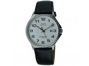 panske damske hodinky s velkym bilym cifernikem a kozenym reminkem (3)